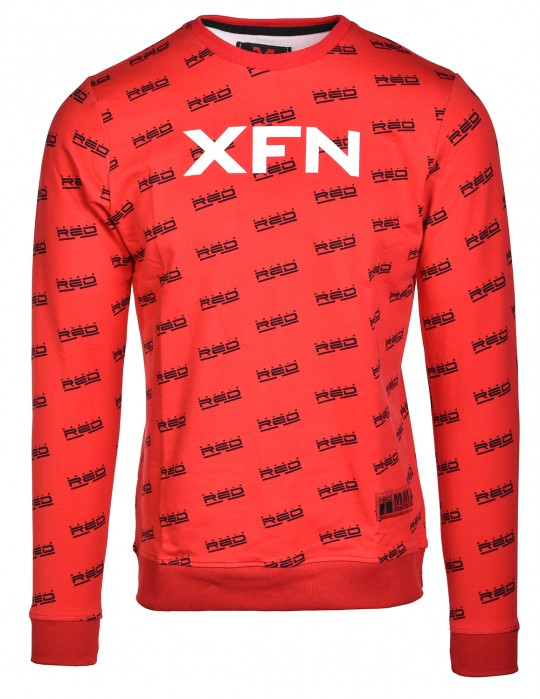 Sweatshirt XFN Fighters Club/DOUBLE RED Full Logo Red